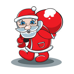 Vector of Santa Claus with a gift bag