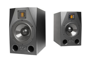 audio speakers, isolated on white