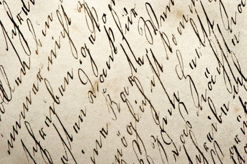old manuscript with vintage handwriting