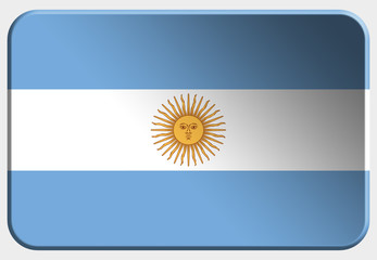 Argentina 3D button on white background