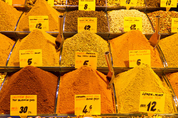 Spices in Spice Bazaar, Istanbul