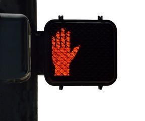 crosswalk signal at an intersection