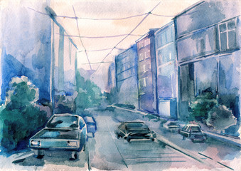 urban city street
