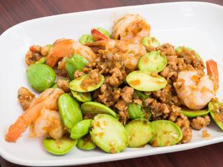Stir-fried Stink Beans with Shrimp