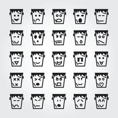 frankenstein face icons