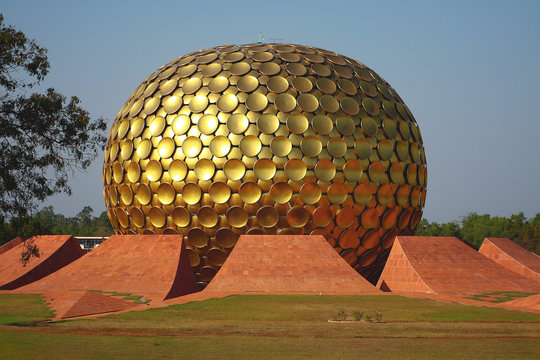 Matrimandir in Auroville, India
