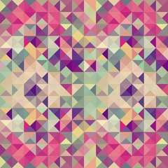 Poster ZigZag Vintage hipsters geometric pattern.