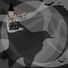 strega con pipistrelli