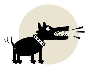 Angry Dog, vector illustration