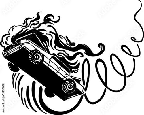 Crash Car Vinyl Ready Vector Design Stock Image And Royalty Free