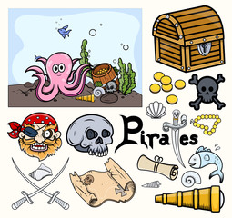 Pirates Graphic Elements