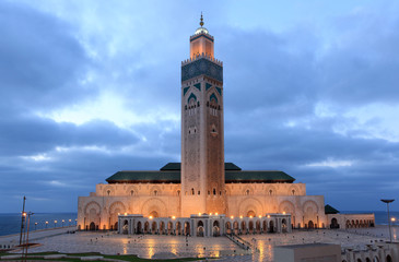 Photo sur Plexiglas Maroc Hassan II Mosque in Casablanca, Morocco, North Africa