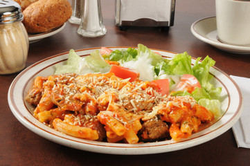 Italian sausage and meatball rigatoni