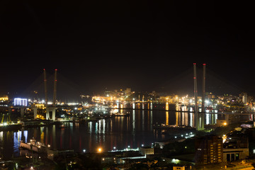 Vladivostok cityscape night view.
