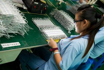 Light-emitting diode test in Shenzhen factory