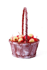 A busket with apples