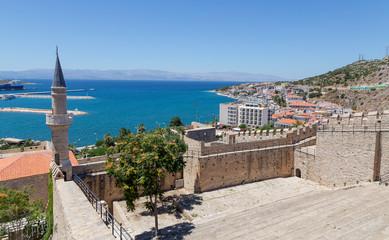 Foto op Aluminium Turkije View of Cesme from the castle, Turkey