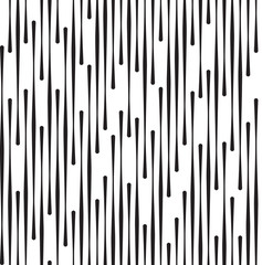 Black and White Abstract Geometric Vector Seamless Pattern.