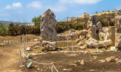 Remains of the Skorba temples in Mgarr