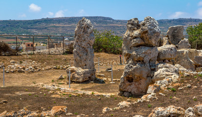 The Skorba temples situated in Mgarr, Malta