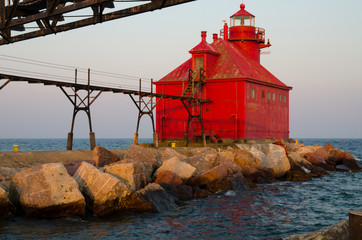 Sturgeon Bay Ship Canal Pierhead Lighthouse, Wisconsin, USA