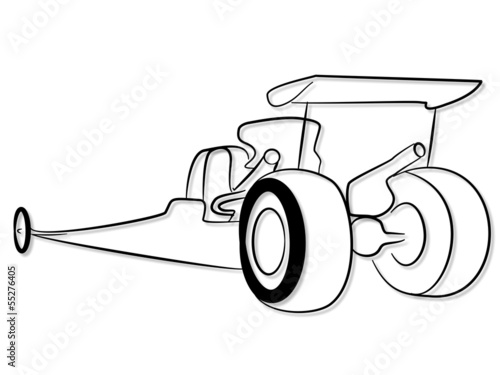 Future Top Fuel Dragster Tribal Stock Image And Royalty Free