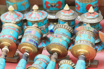 Buddhist prayer wheels-Pashupatinath-Kathmandu-Nepal. 0301