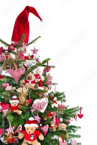 tannenbaum in rot und gr n geschm ckt zu weihnachten stockfotos und lizenzfreie bilder auf. Black Bedroom Furniture Sets. Home Design Ideas