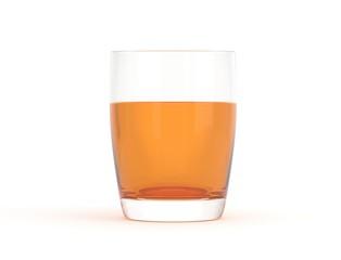 Glas klein rund voll