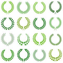 vector collection of laurel wreaths