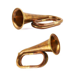 Trumpet musical instrument isolated