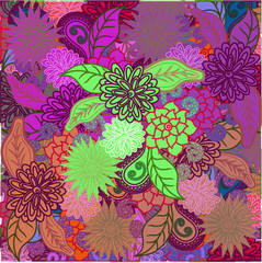 Flowers pattern. vector