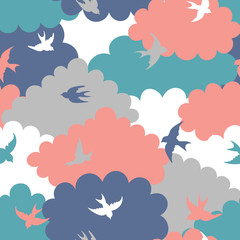 Wall Mural - Clouds seamless pattern