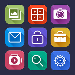 Stylish flat icons