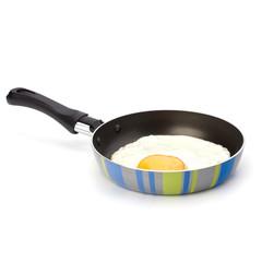 Fried egg on pan