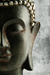 Poster Boeddha black grunge Buddha