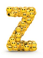 Emoticons letter Z