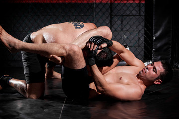 Grappling and controlling his rival