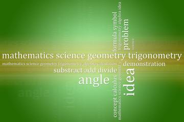 Abstract background mathematics theme