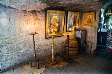 Interior of the Cave monastery
