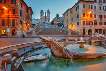 Fotobehang Rome Spanish Steps at dusk, Rome