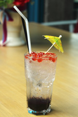 blueberry italian soda on the Table