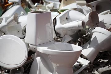 Dumped broken wc