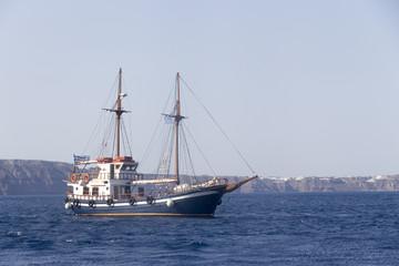Sailboat in Santorini