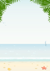 sea and beach vector illustration EPS10. Transparent objects
