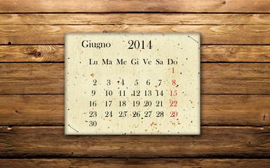 Calendario Giugno 2014