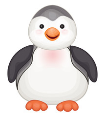 Vector of cute penguin  isolated.