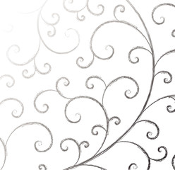 Abstract background curly branches