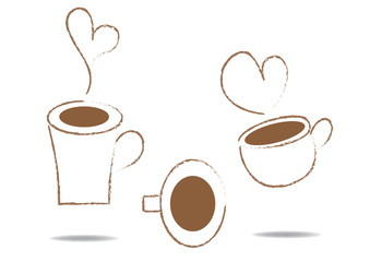 cup of coffee icon sketch
