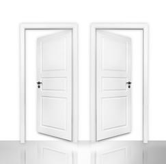 Geöffnete Doppeltür